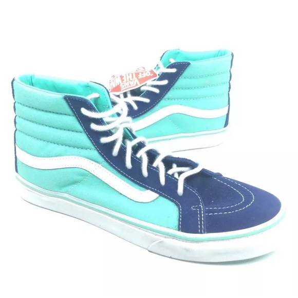 Vans Sk8 Hi Canvas Two Tone Blue Shoes